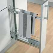 kitchen base 150mm, towel rail pull-out
