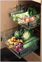 kitchen Base Pull-Out Vegetable Baskets