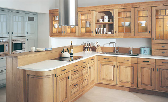 Kitchen as Dante Light Oak Antiqued