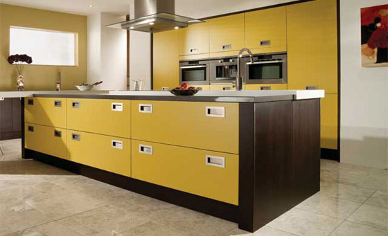 Kitchen as Tavola Oak in Black Brown Ferrara & Ginger