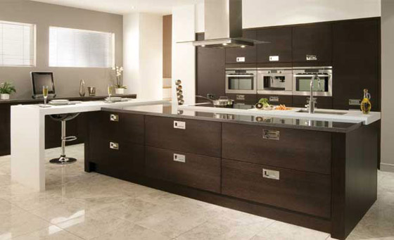 Kitchen as Tavola Oak in Black Brown Ferrara
